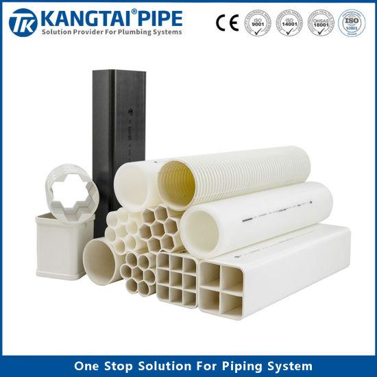 Honeycomb UPVC Multihole Telecommunication Conduit Pipe White Tubing