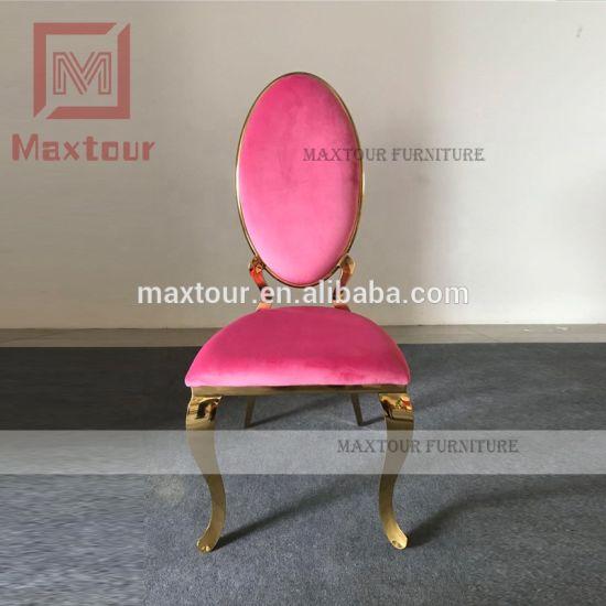 Admirable 2019 New Design Luxury Pink And Gold Velvet Dining Chair Uwap Interior Chair Design Uwaporg