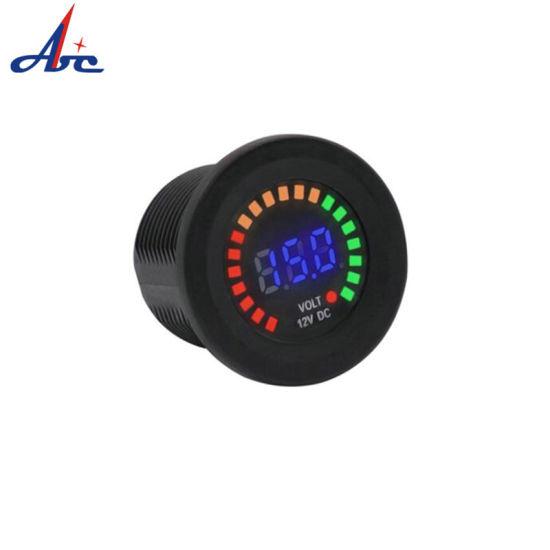 Newest Colorful Screen 12V DC Digital Voltmeter with LED