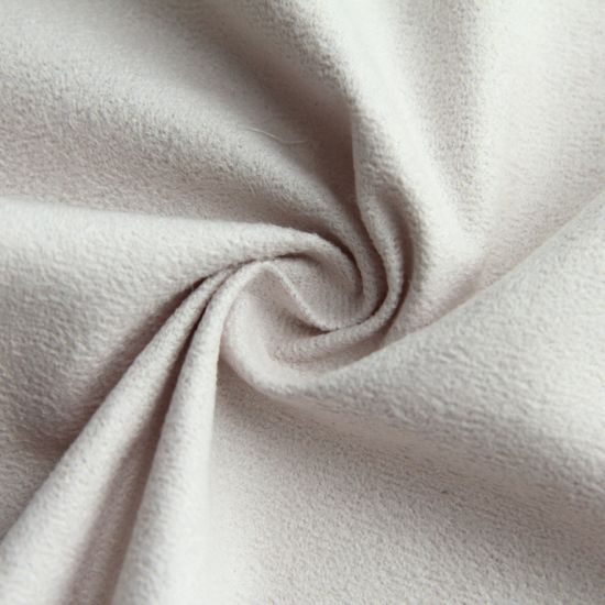 Pure White 100%Polyester Textiles Suede Fabric for Garment/Women/Trench Coat