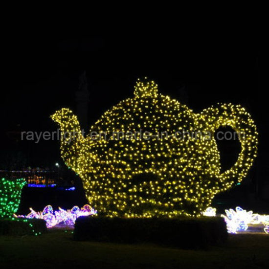 Garden Huge Kettle LED Motif Light Christmas Items pictures & photos