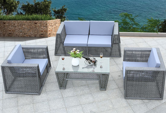 China 4 Pieces Outdoor Sofa Set Pation Sofa Rattan Furniture - China ...