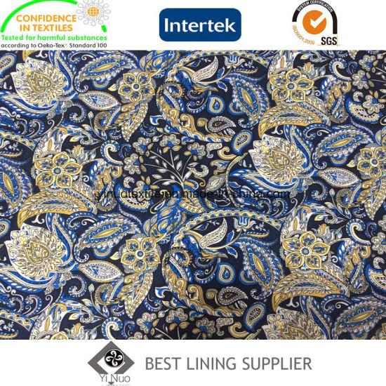 china polyester fashion print patterns for men s jacket coat lining
