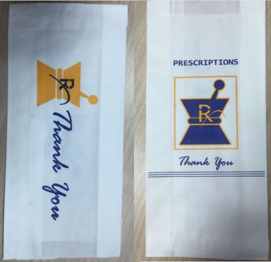 Pharmacy Take Away Paper Bag, Rx Paper Bag pictures & photos