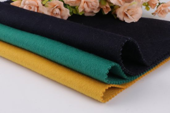 Wool Fabric, Double-Sided Woolen Fabric for Overcoat, Solid Color