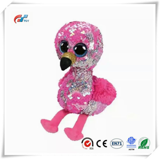 Flamingos Animals Plush Toy with Sequins for Kids