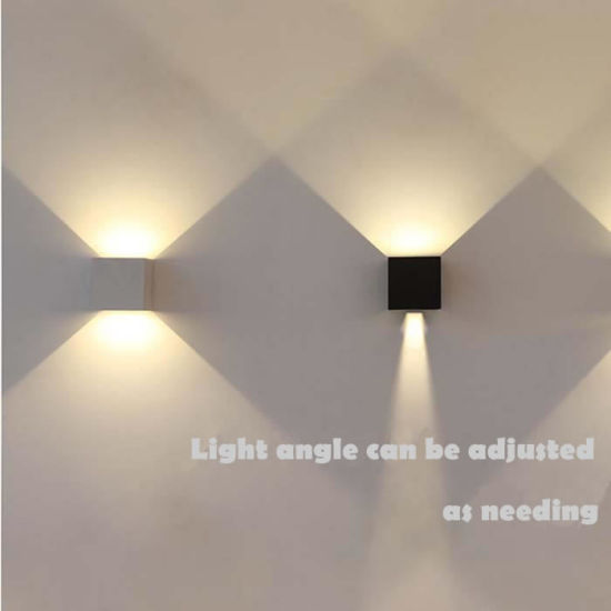 Up U0026 Down Stairway White/Black Indoor LED Wall Lights Lighting In LED 6W  3000k, L100mm. W100mm. H100mm