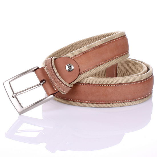 Oversew Heavy Cotton Webbing Cowhide Leather Belts (RS-13014)