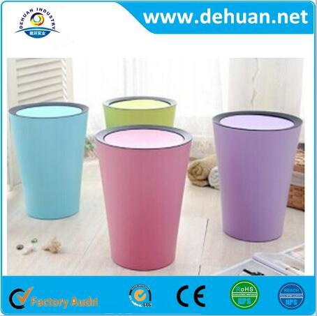 Low Price Plastic Dustbin Type/ Pink Trash Can pictures & photos