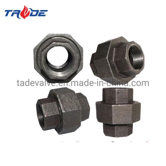 Male Thread Adapter Bsp Female Hose Fittings Black Equal Socket Malleable Iron Union Flat Seat