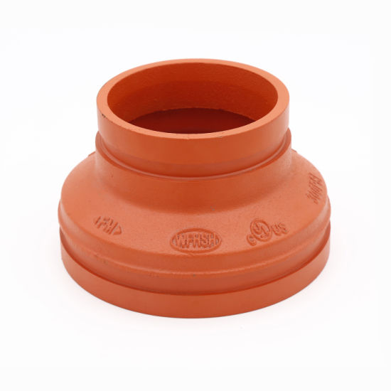 Ductile Iron ASTM A536 Grade 65-45-12 Grooved Pipe Fittings and Grooved Concentric Reducer for Building Projects