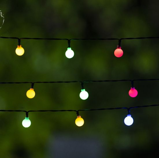 China Color Changing Led Outdoor String Lights Waterproof Commercial Grade For Patio Cafe Backyard And Garden China Color Changing Led Led String Lights