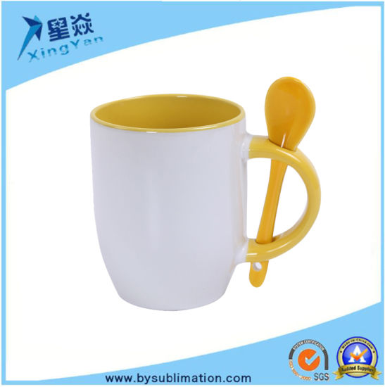 d598e690062 12oz Inner Color Sublimation Magic Mug with Spoon pictures & photos