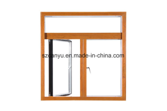 Standard Easy Cleaning Aluminum Wooden Cladding Chain Awning Window pictures & photos