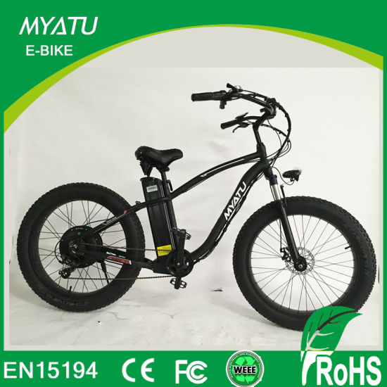 China 500W Mountain Electric Haibike Bike with Fat Tire Wheel