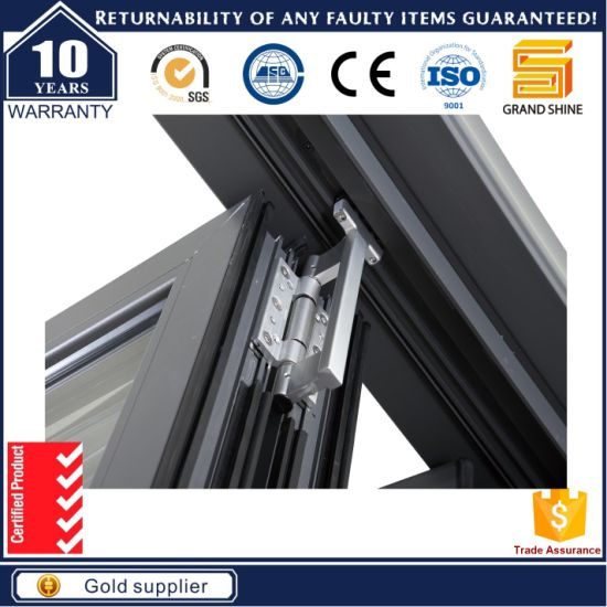 Heat Insulation Interior Accordion Folding Door with Flyscreen pictures & photos