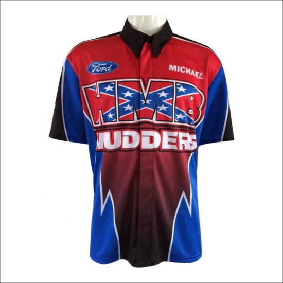 31407d3f Full Dye Sublimated Custom Pit Crew Shirts Button Down Custom Blank Racing  Shirts