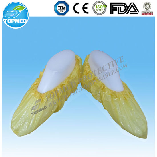 with Elastic Band Waterproof/Hygienic Plastic Shoe Cover/Overshoes Machine Made pictures & photos