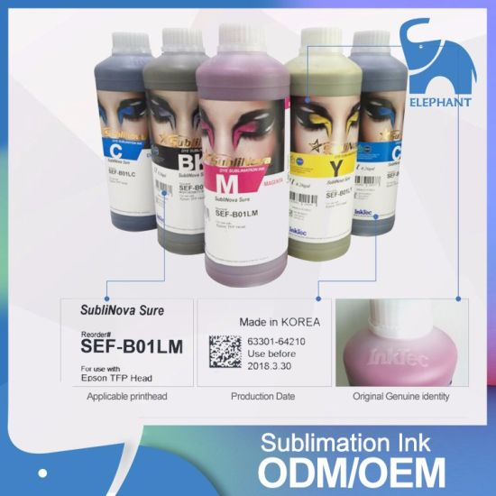 Korea Inktec Water Based Dye Sublimation Ink for Tfp Head Printer pictures & photos