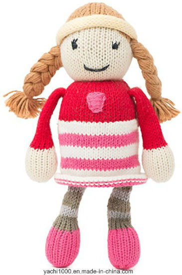 Customized Creative Soft Knitted Toy America Girl Doll