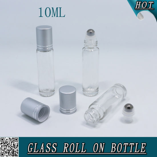 10ml Clear Glass Roller Ball Bottle with Metal Roller Ball pictures & photos