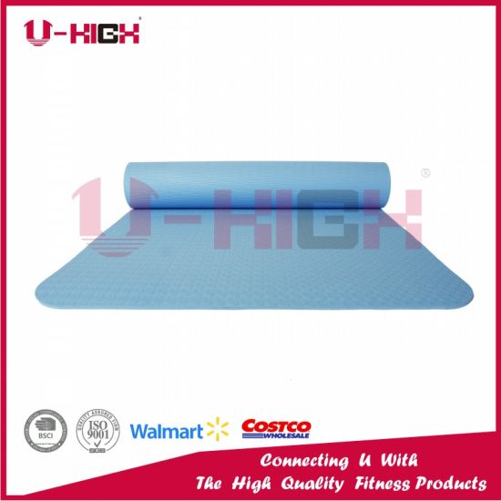 TPE Yoga Mat Solid Color Pilates Exercise pictures & photos