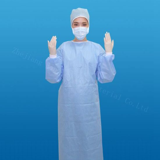 Home-Textile Disposable SMS Nonwoven Fabric Use for Surgical Gown Medical Coverall pictures & photos