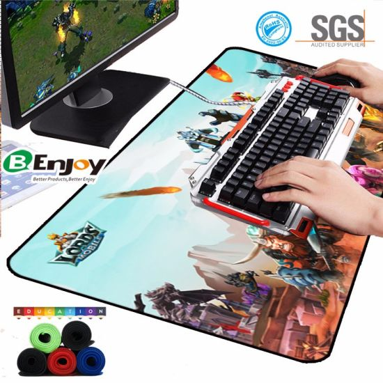 china extended large size gaming mouse pad with custom logo china