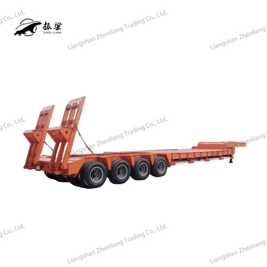 3 Axle 4 Axle 5 Axle 40 60 80 120 Ton Heavy Duty Gooseneck Low Loader/Lowbed/ Lowboy Low Bed Trailer Truck Semi Trailers for Excavator Transport