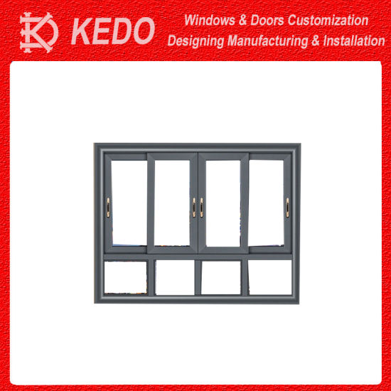 Wood Grain Aluminum Alloy Effect Slider Windows for Sale pictures & photos