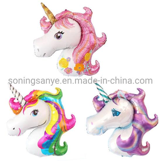 Dto0292 Unicorn Theme Birthday Party Decoration Supplies Foil Balloon