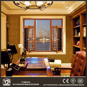 Foshan Woodwin Double Tempered Glass Aluminium Window pictures & photos