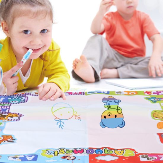 Aqua Magic Large Doodle Mat Educational Water Drawing Mat for Kids Toy Toddler Painting Board with 2 Magic Pens, 1 Magic Brush, and Drawing Accessories for Boys pictures & photos