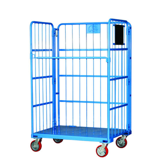 Foldable Steel Warehouse Storage Rolling Container Cage pictures & photos