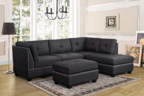 Excellent Fabric Sectional Sofa With Nails For Home Furniture China Onthecornerstone Fun Painted Chair Ideas Images Onthecornerstoneorg