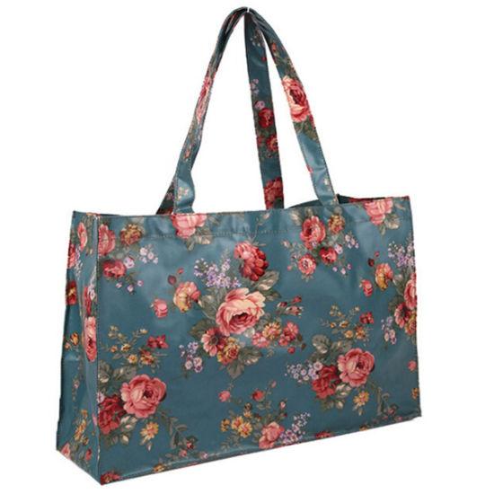 Carrot Zip Top Tote Oil Cloth Bag Waterproof Bag Reusable Bag Ladies Bag