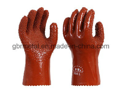 PVC Coating Non-Skid Frigostable Gloves Work Gloves 998 pictures & photos