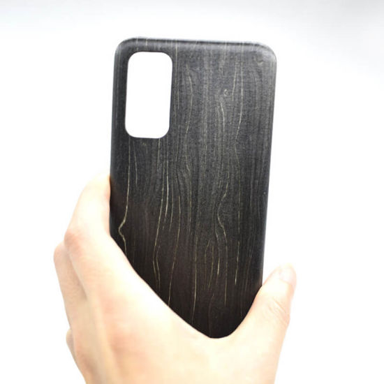 Professional Manufacture Cheap Black Ice Wood Phone Case
