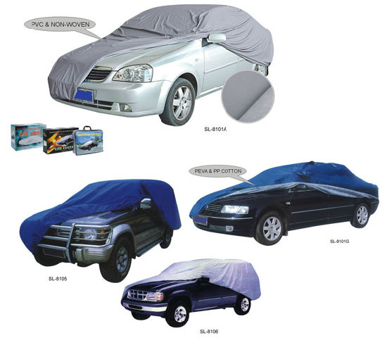 Whole Sale UV Protection Waterproof Sunproof Car Cover (SL-8101)