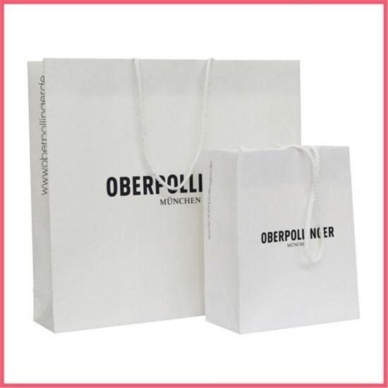 China Printed Paper White Kraft Paper Bag Manufacturer