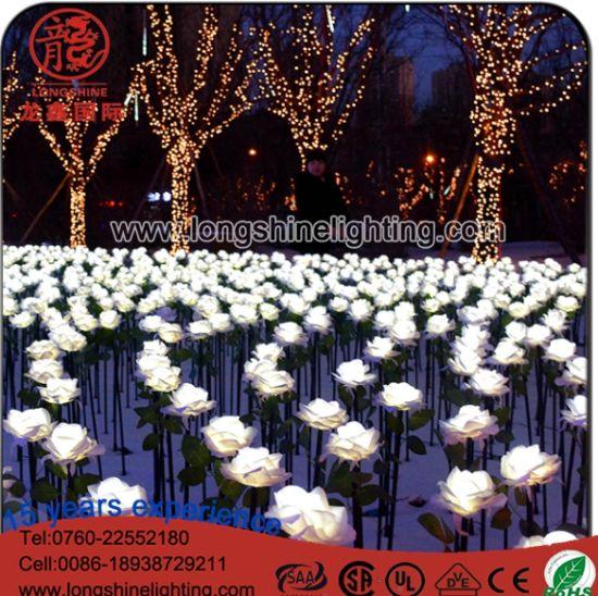 factory supplies led tulip flower light for outdoor evening garden decoration lighting