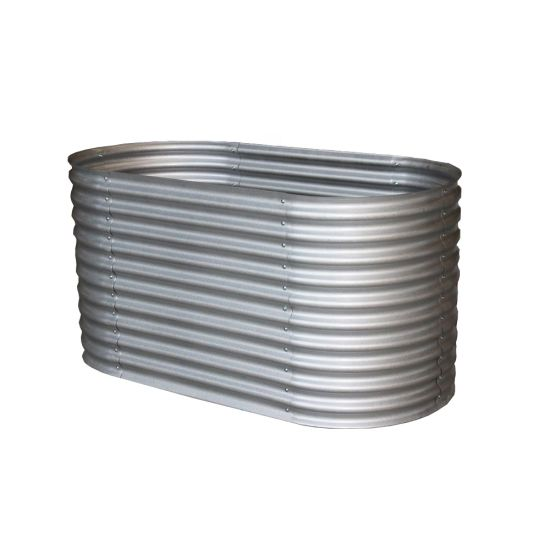 , Corrugated Oval Galvanized Steel Metal Raised Garden Bed. Different Colors