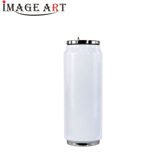 500ml Sublimation Double Wall Vacuum Cola Can Shaped Water Bottle (white)