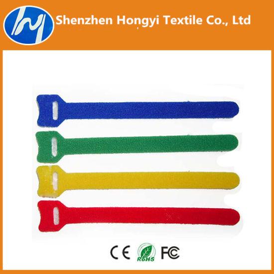 Self-Locking /Adjustableprinted Logo Hook & Loop Velcro Cable Ties