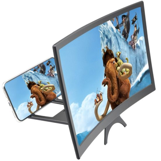 Hot Sell 3D Curved Screen Enclosed Design HD Movie Video Amplifier Mobile Phone Screen Magnifier Foldable Screen Amplifier