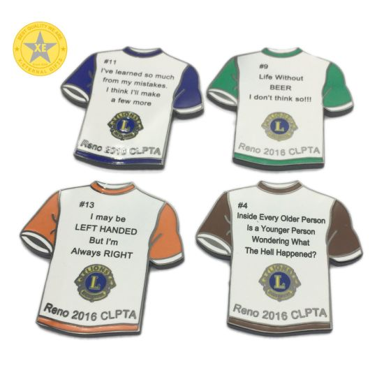 Souvenir Gift Promotion Polo Shirt Metal Custom Enamel Brooch Lapel Pinget Latest Price pictures & photos
