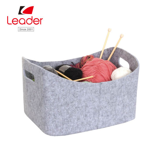 Factory Direct Portable Felt Foldable Holder Bag/Bin/Basket for Storage pictures & photos