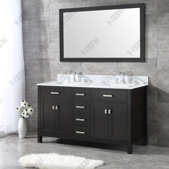 China Usa Style 60 Inch Double Sinks, 56 Bathroom Vanity Double Sink
