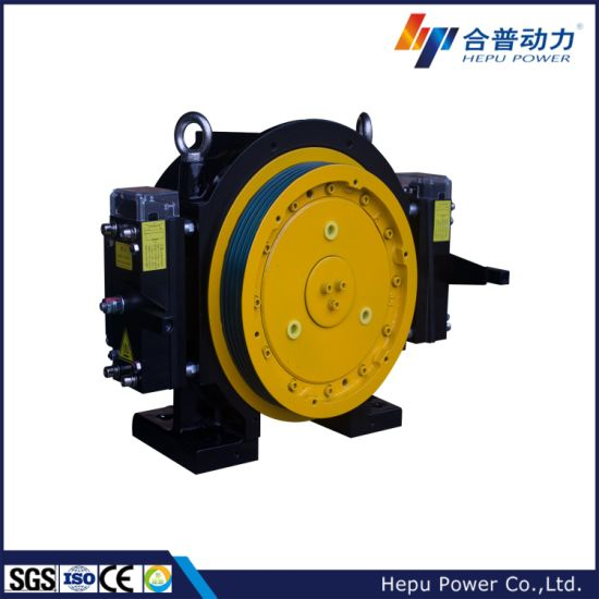 Gearless Traction Machine for Elevator (14 Passengers) for India Market; Wtd1-B Series, Block Brake Type