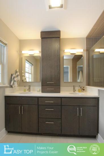 Waterproof Commercial Wooden Bathroom Vanities for Apartment